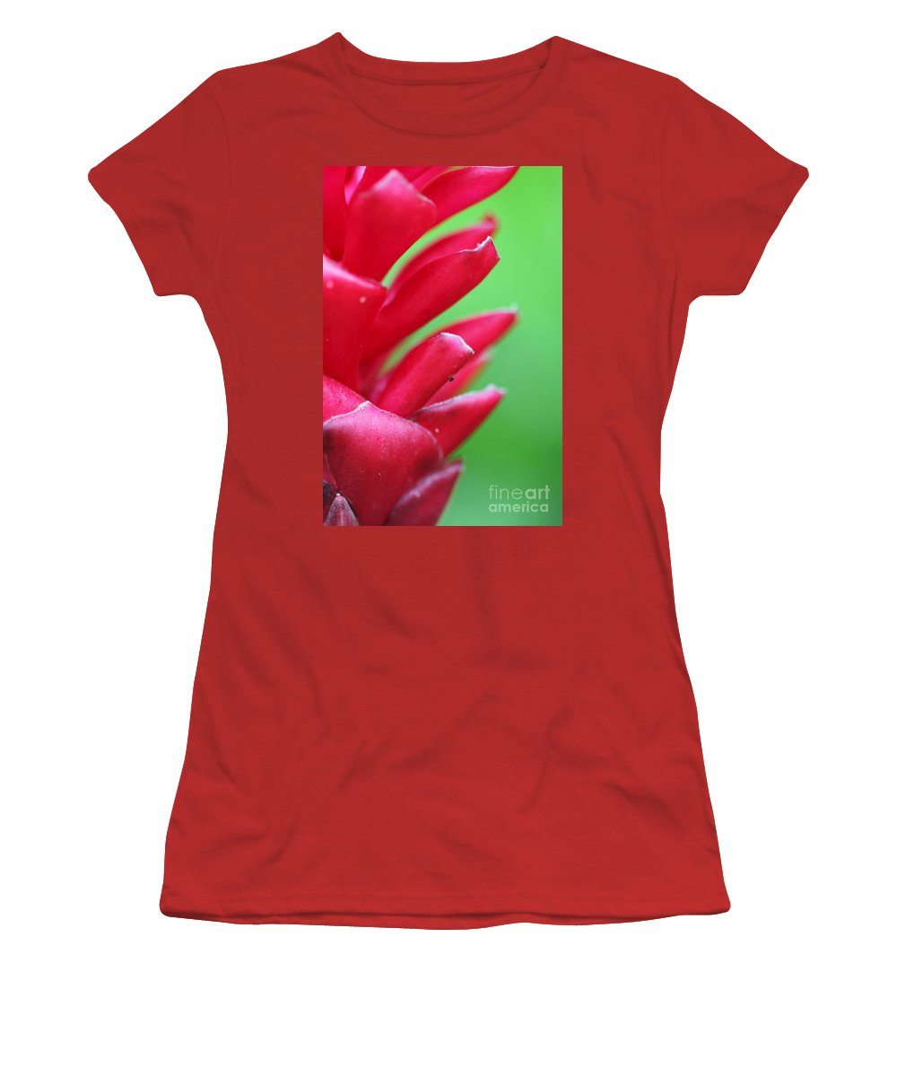 Ginger Women's T-Shirt (Athletic Fit) featuring the photograph Pink Ginger by Nadine Rippelmeyer