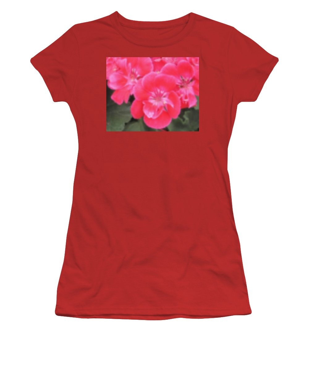 Pink Women's T-Shirt (Athletic Fit) featuring the photograph Pink by Ian MacDonald