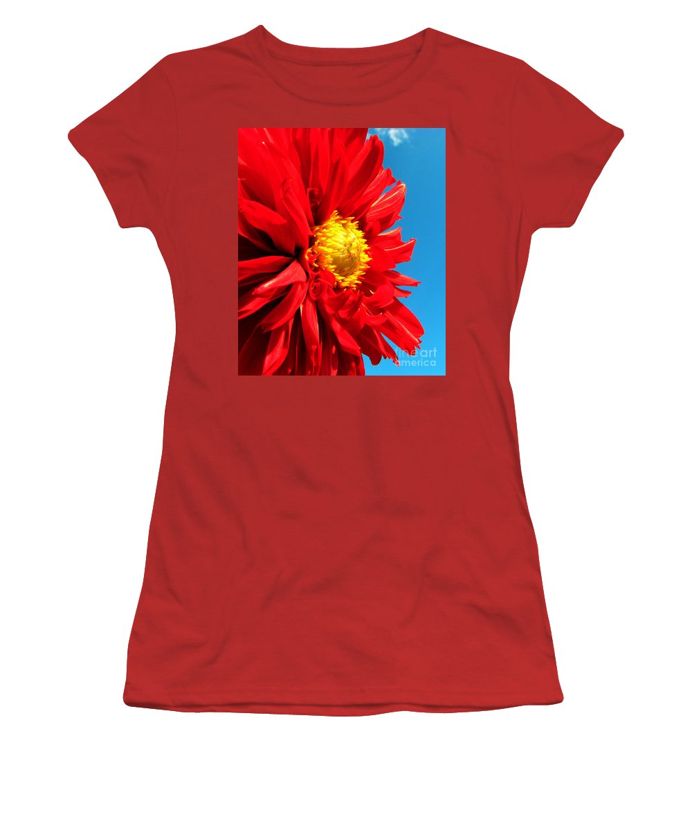 Dhalia Women's T-Shirt (Athletic Fit) featuring the photograph Ready For The Future by Amanda Barcon
