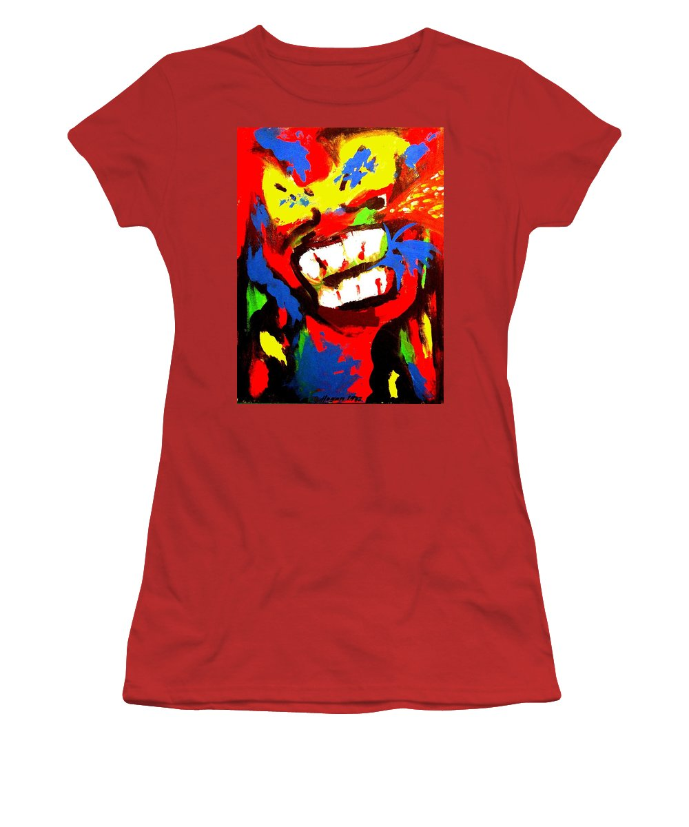 Teenager Women's T-Shirt (Athletic Fit) featuring the painting Rebel Rebel by Alan Hogan