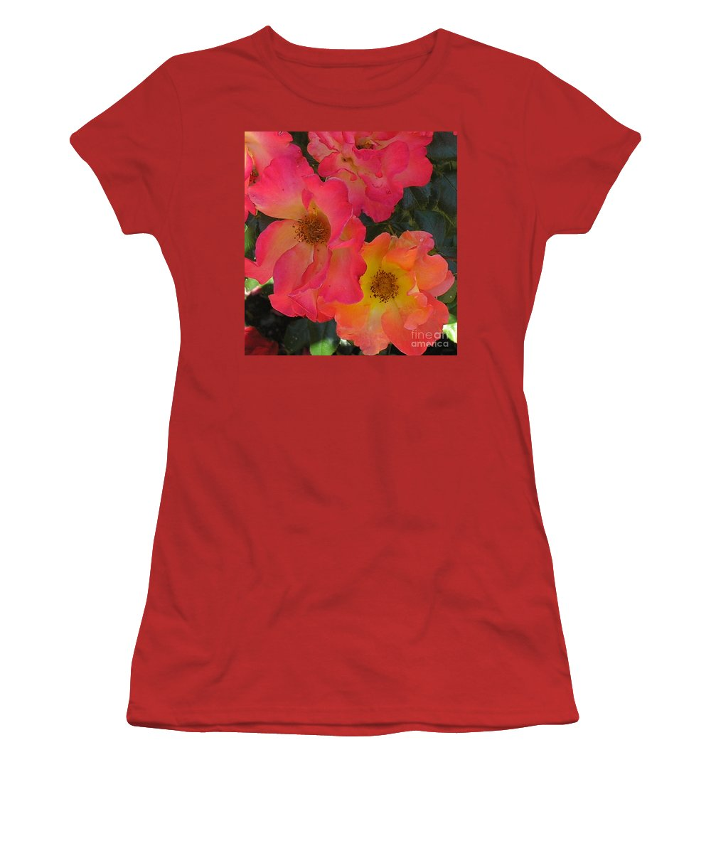 Rose Women's T-Shirt (Athletic Fit) featuring the photograph Roses by Dean Triolo