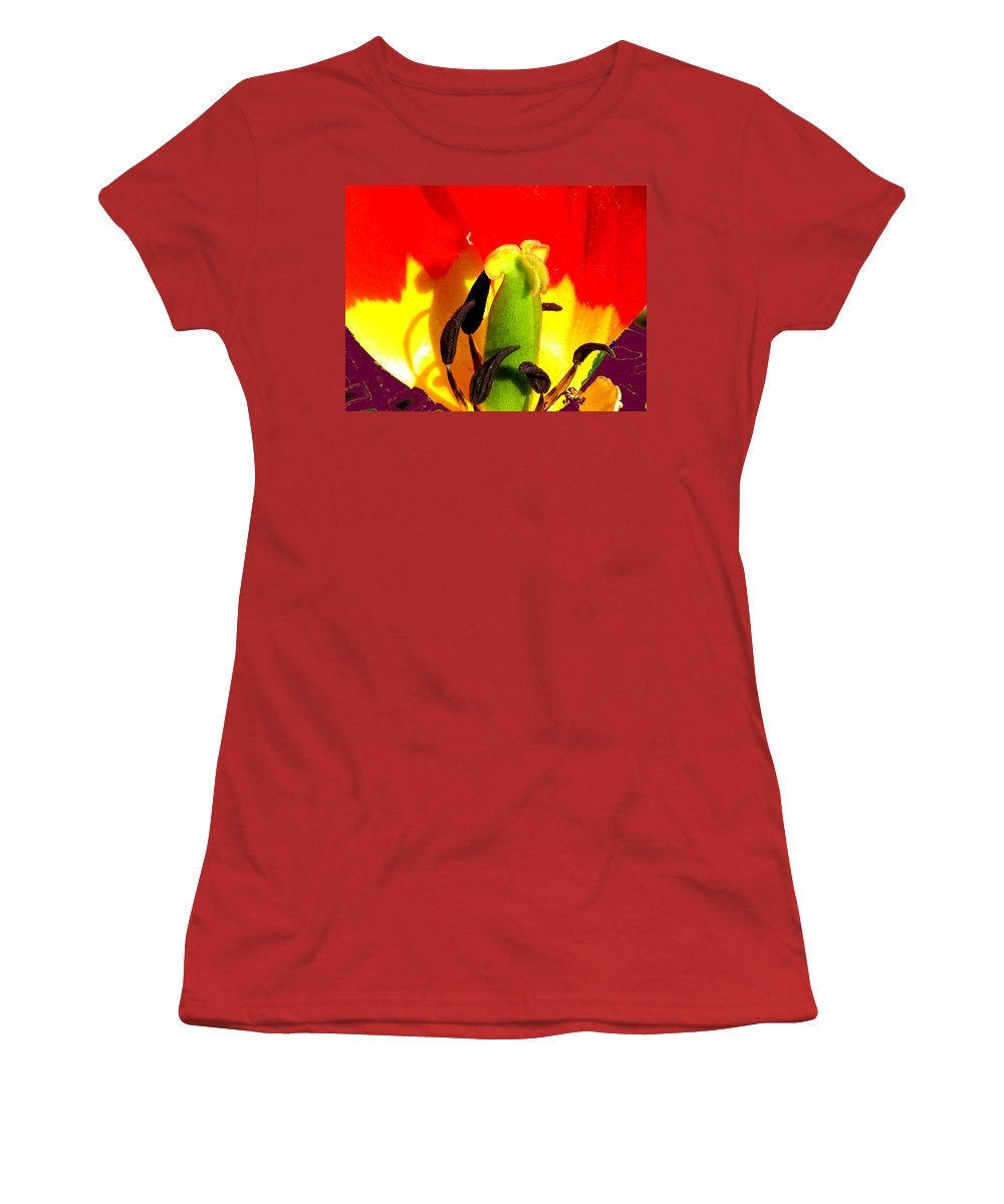 Abstract Women's T-Shirt (Athletic Fit) featuring the photograph Waiting by Ian MacDonald