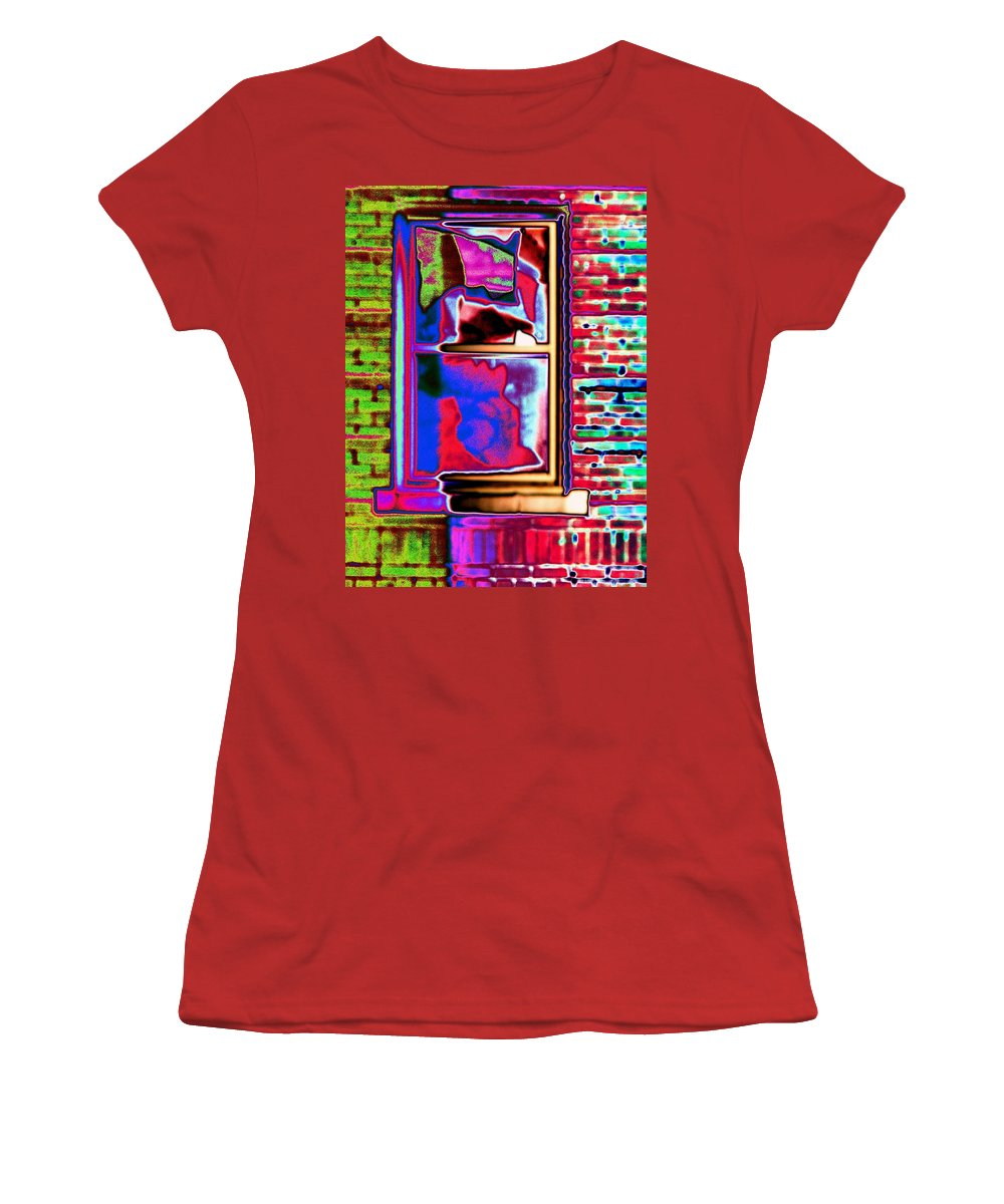 Window Women's T-Shirt (Athletic Fit) featuring the digital art Window 1 by Tim Allen