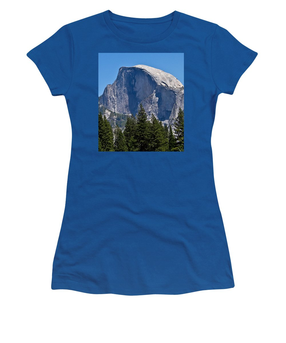 Yosemite Park Women's T-Shirt featuring the photograph Half Dome by Brian Williamson