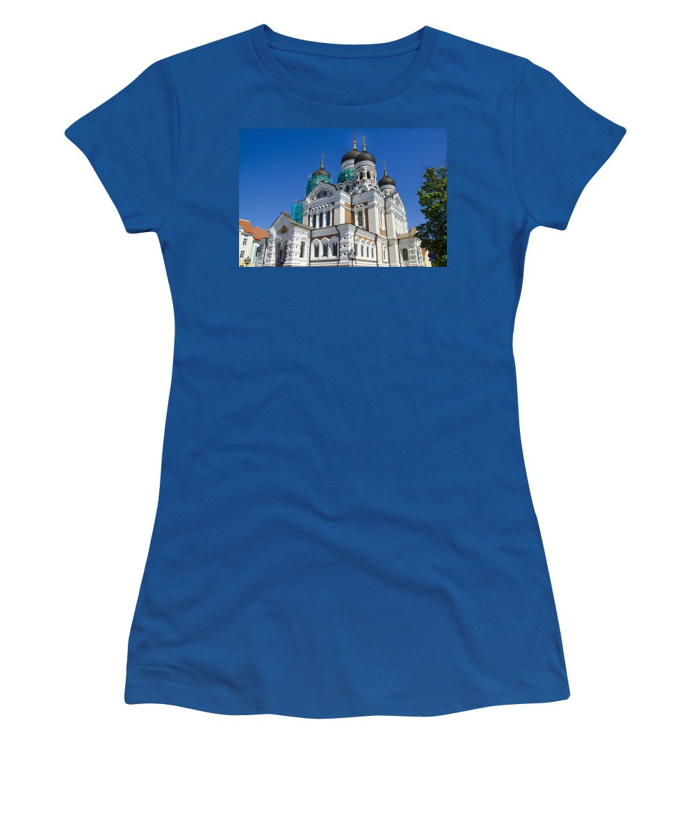 Estonia Women's T-Shirt featuring the photograph Nevsky Cathedral - Tallin Estonia by Jon Berghoff