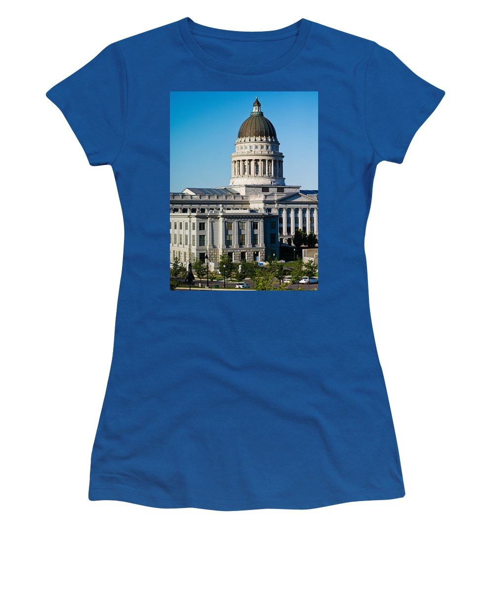 Photography Women's T-Shirt featuring the photograph Utah State Capitol Building, Salt Lake by Panoramic Images