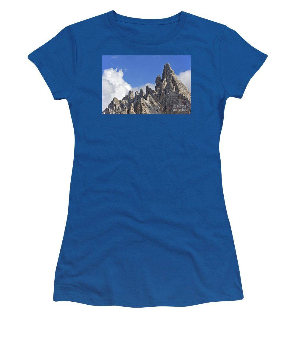 Dolomites Women's T-Shirt featuring the photograph 110414p106 by Arterra Picture Library