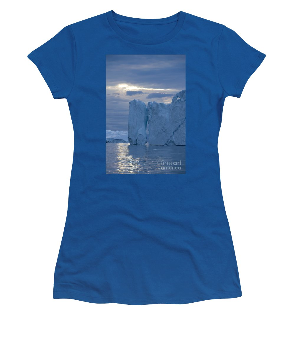 Iceberg Women's T-Shirt featuring the photograph 110613p179 by Arterra Picture Library