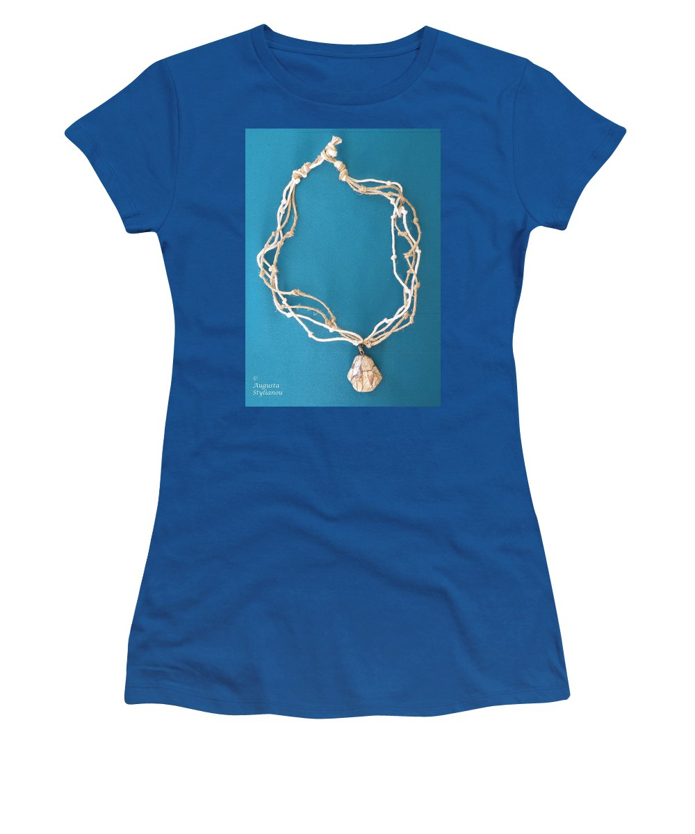 Augusta Stylianou Women's T-Shirt featuring the jewelry Aphrodite Urania Necklace by Augusta Stylianou
