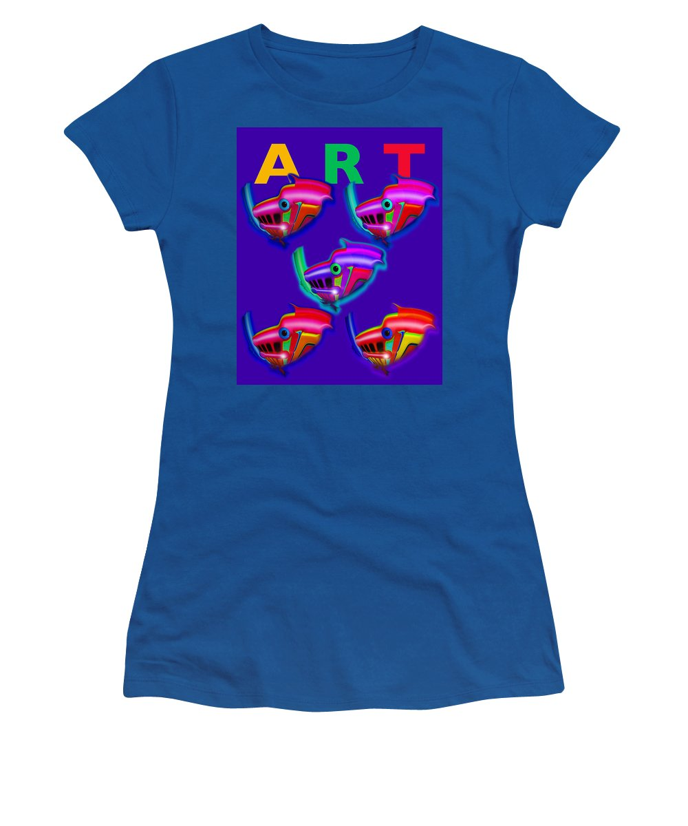 Art Women's T-Shirt featuring the painting Art by Charles Stuart