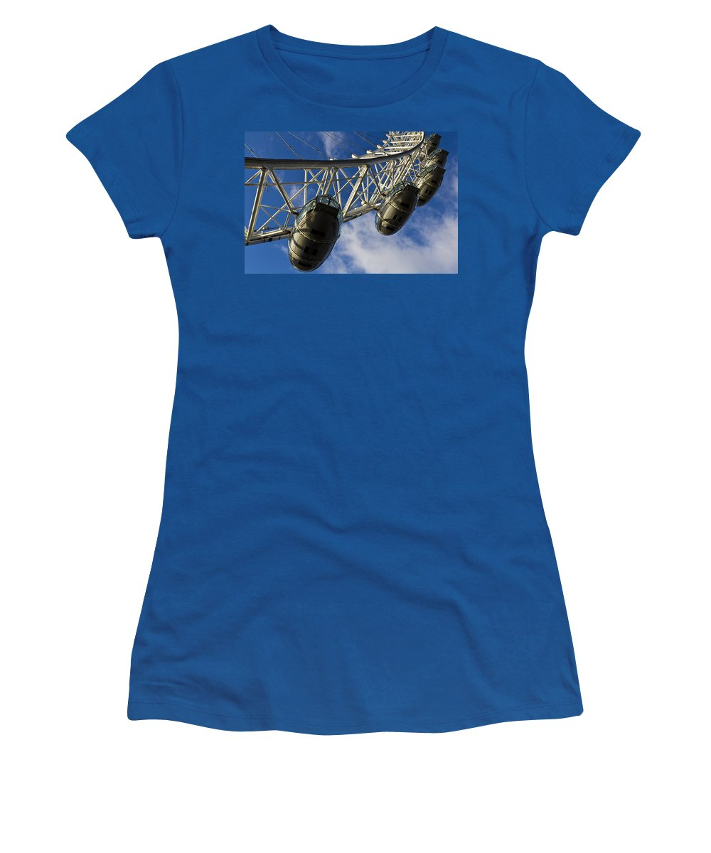London Eye Women's T-Shirt featuring the photograph The London Eye by David Pyatt
