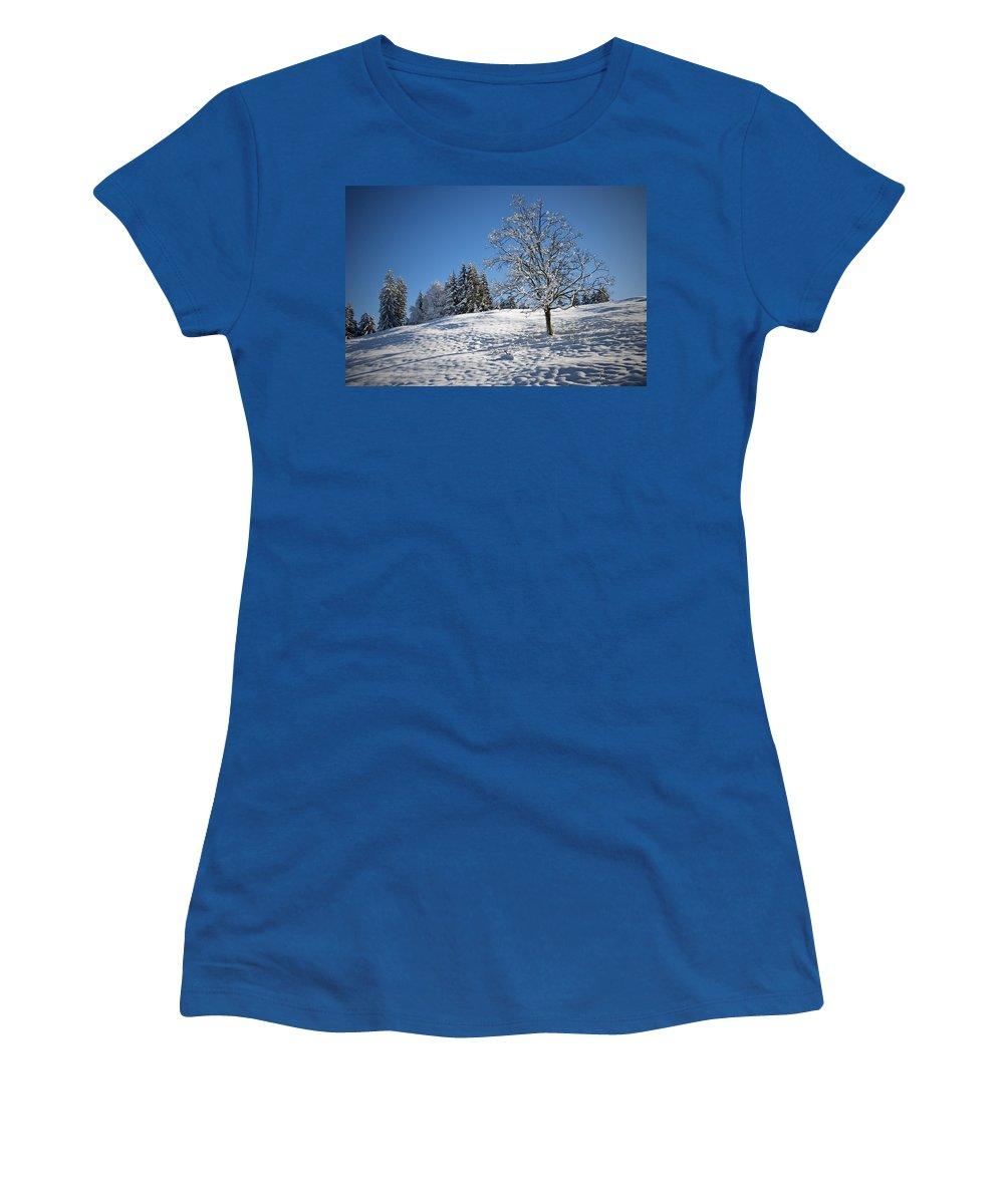 Winter Women's T-Shirt featuring the photograph Winter Landscape by Chevy Fleet