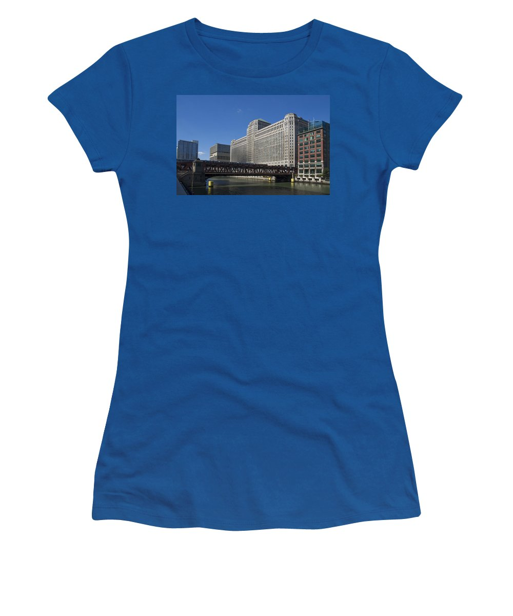 Chicago Women's T-Shirt featuring the photograph Merchandise Mart Building by Patrick Warneka