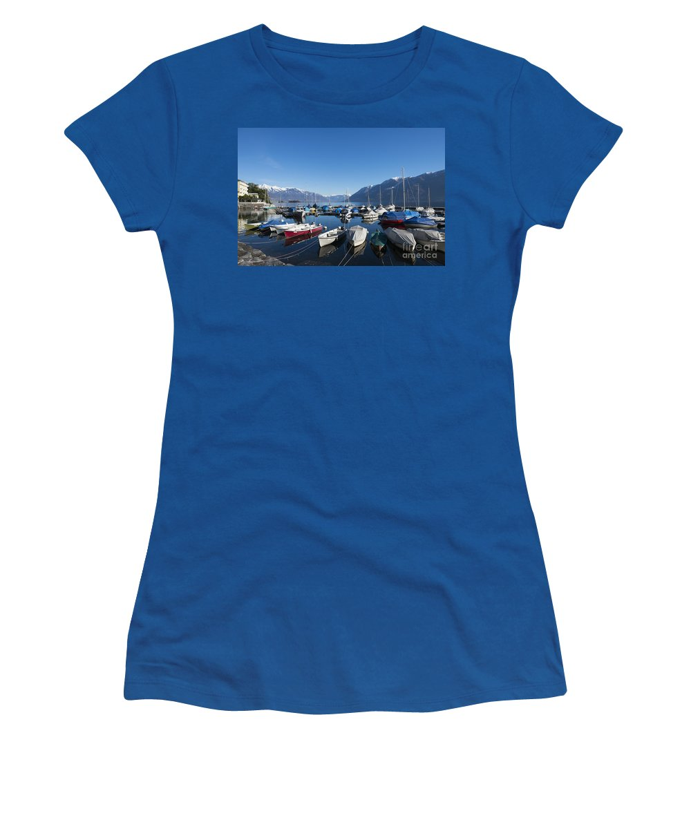 Port Women's T-Shirt featuring the photograph Harbor by Mats Silvan