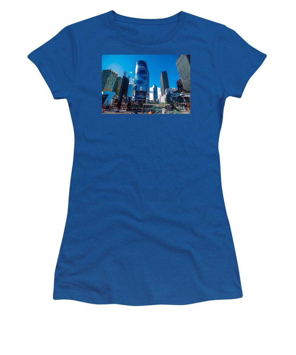 America Women's T-Shirt featuring the photograph Las Vegas Nevada Usa by Alex Grichenko