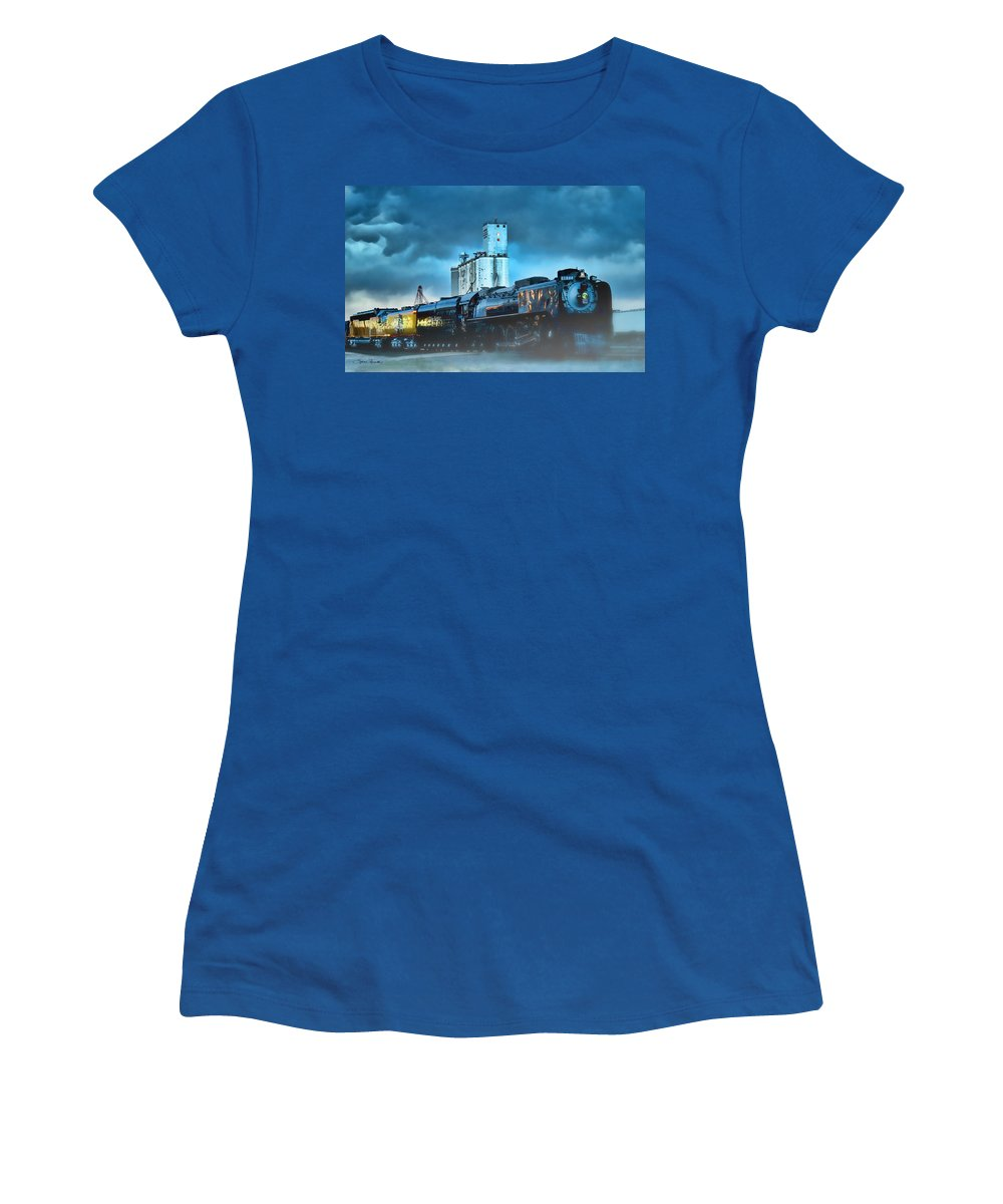 844 Women's T-Shirt featuring the photograph 844 Night Train by Sylvia Thornton