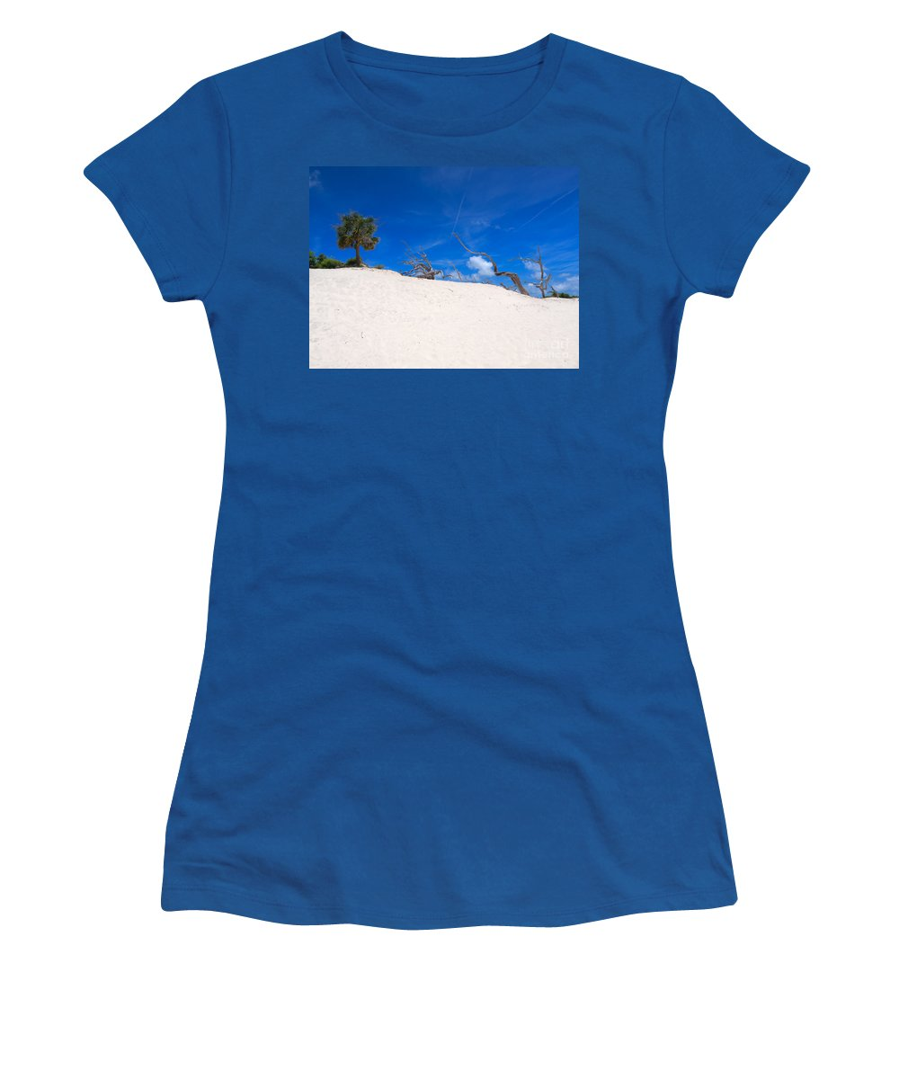 Sand Women's T-Shirt featuring the photograph Above The Dunes by Louise Heusinkveld