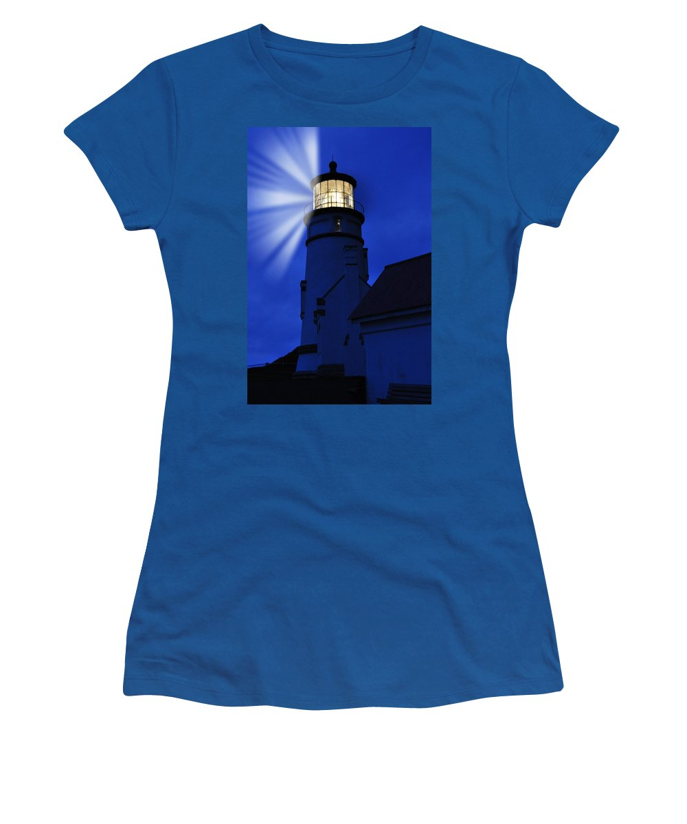 Heceta Women's T-Shirt featuring the photograph Above The Ocean by Image Takers Photography LLC - Laura Morgan
