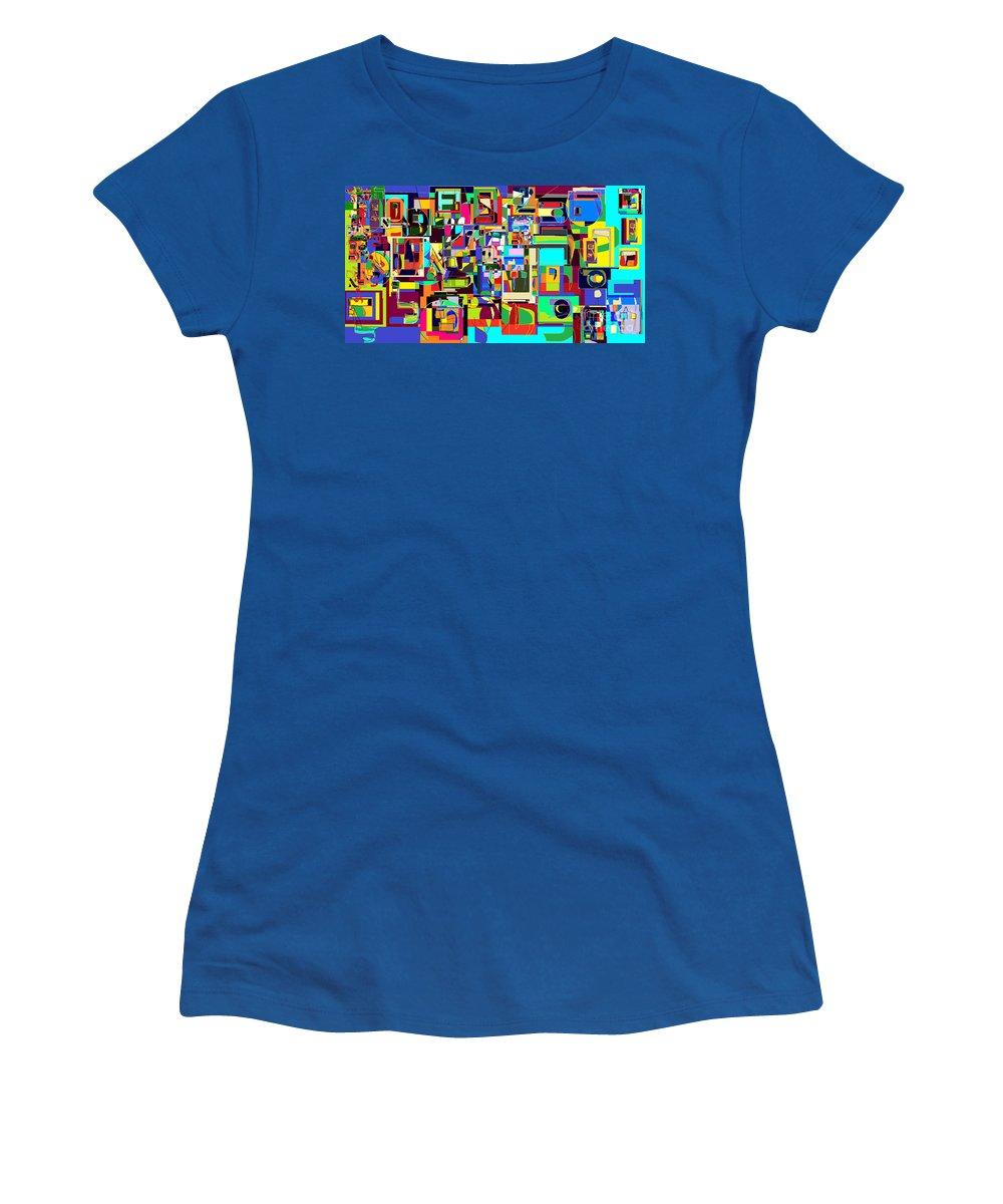 Women's T-Shirt (Athletic Fit) featuring the digital art Alef Bais 1c by David Baruch Wolk
