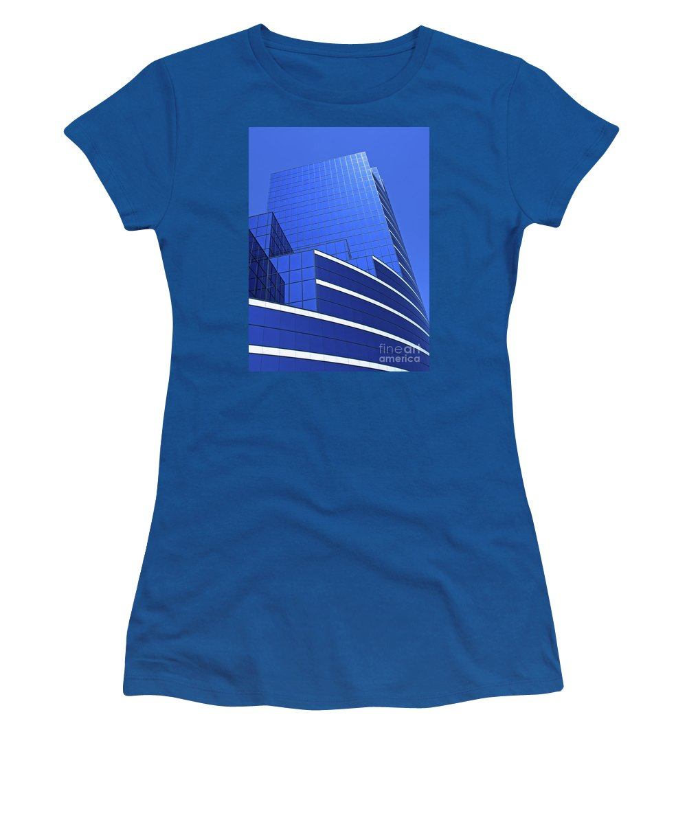 Architecture Women's T-Shirt (Athletic Fit) featuring the photograph Architectural Blues by Ann Horn