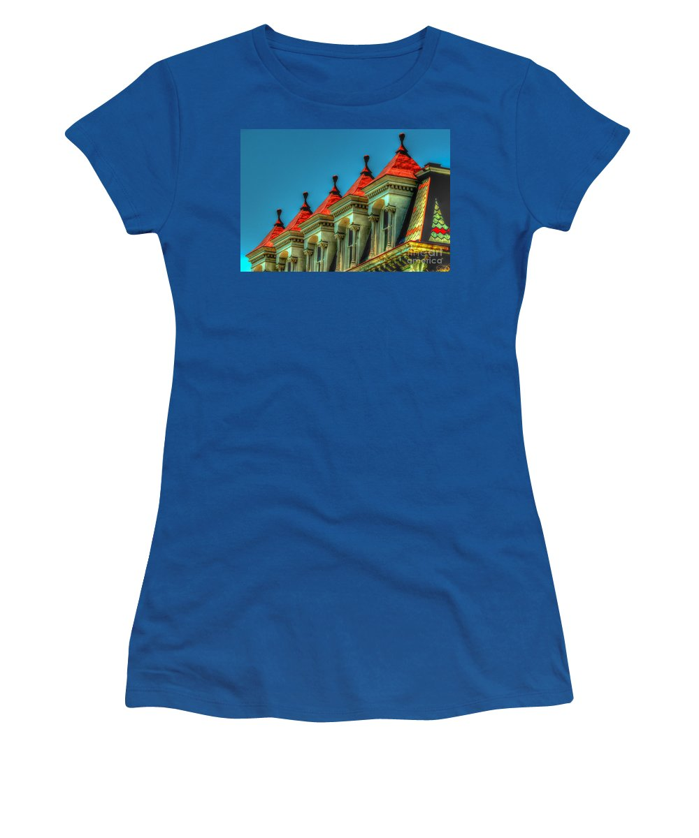 Historic Women's T-Shirt featuring the photograph Balloon Top by Dale Powell
