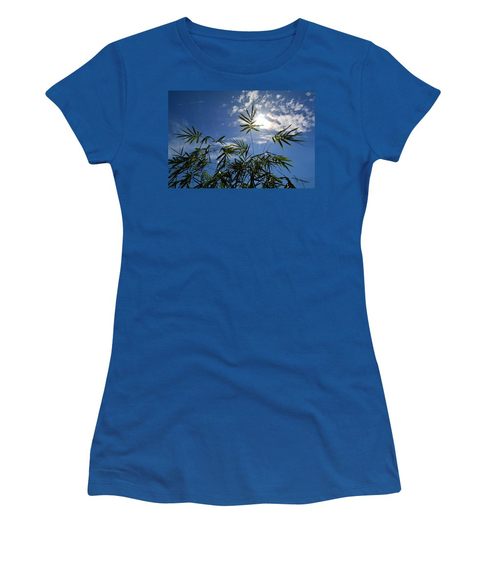 Bamboo Women's T-Shirt (Athletic Fit) featuring the photograph Bamboo Under The Sun by To-Tam Gerwe