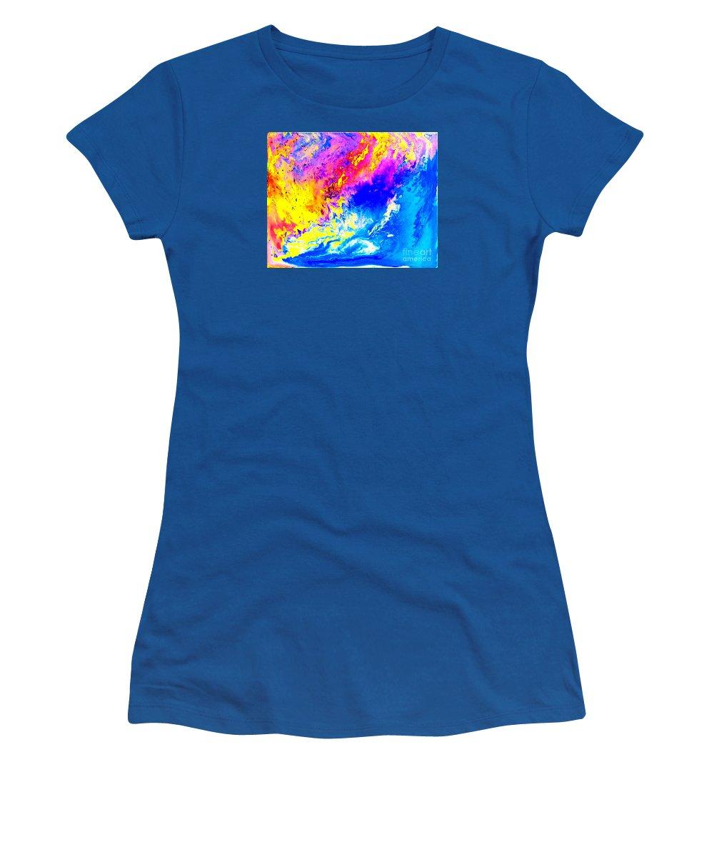 Weather Women's T-Shirt featuring the mixed media Beautiful Weather by Pauli Hyvonen