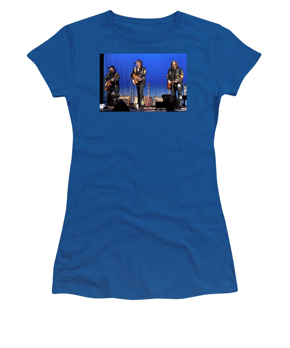 Art Women's T-Shirt featuring the photograph Blackie And The Rodeo Kings by Randall Nyhof