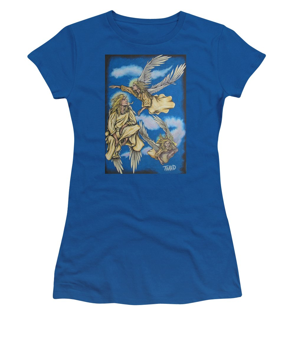 Michael Women's T-Shirt featuring the drawing Bliss by Michael TMAD Finney
