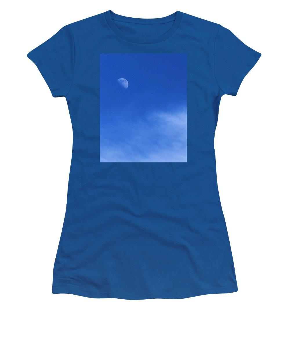 Quartet Women's T-Shirt featuring the photograph Blue Moon by Chuck Hicks