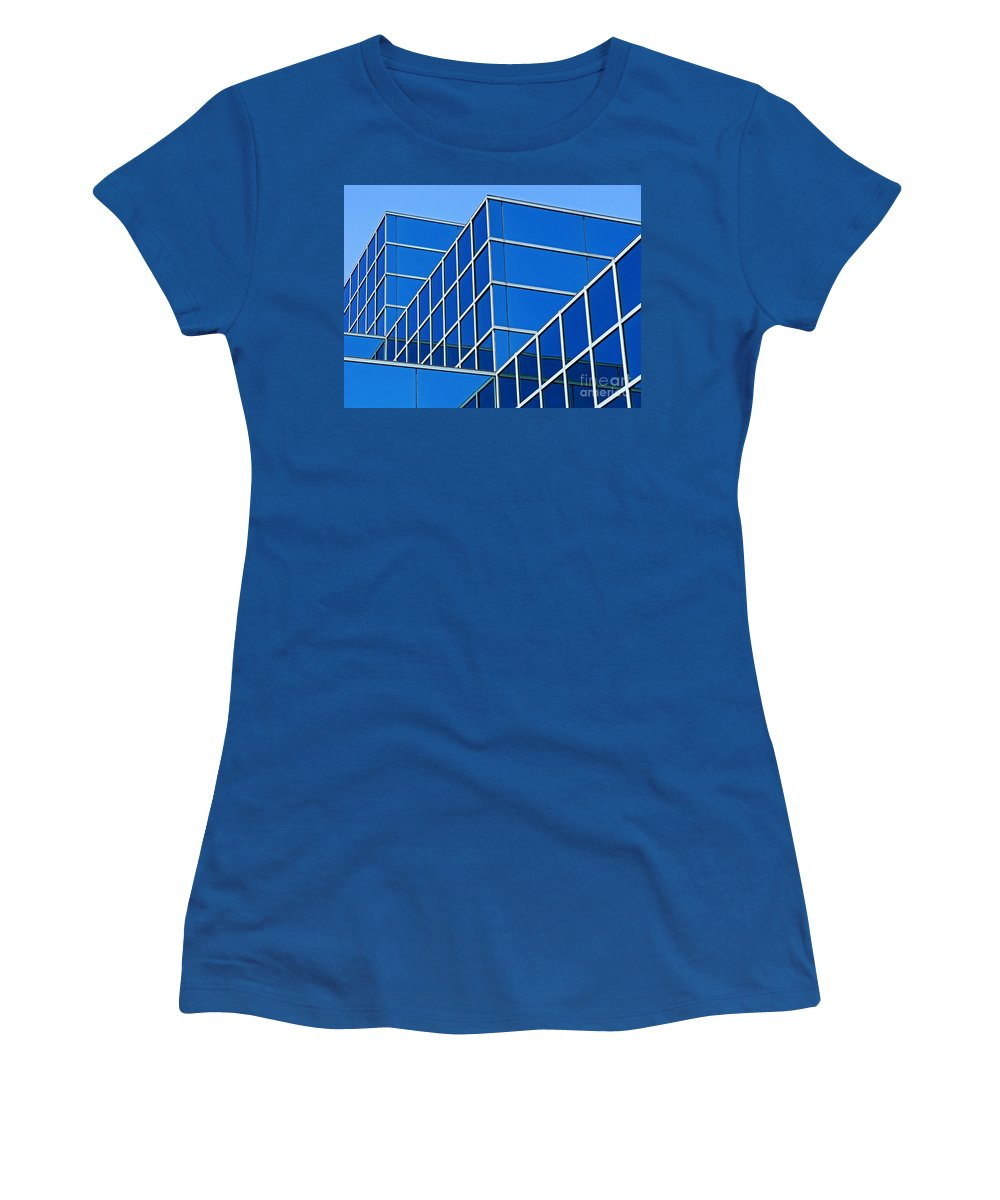 Building Women's T-Shirt (Athletic Fit) featuring the photograph Boldly Blue by Ann Horn