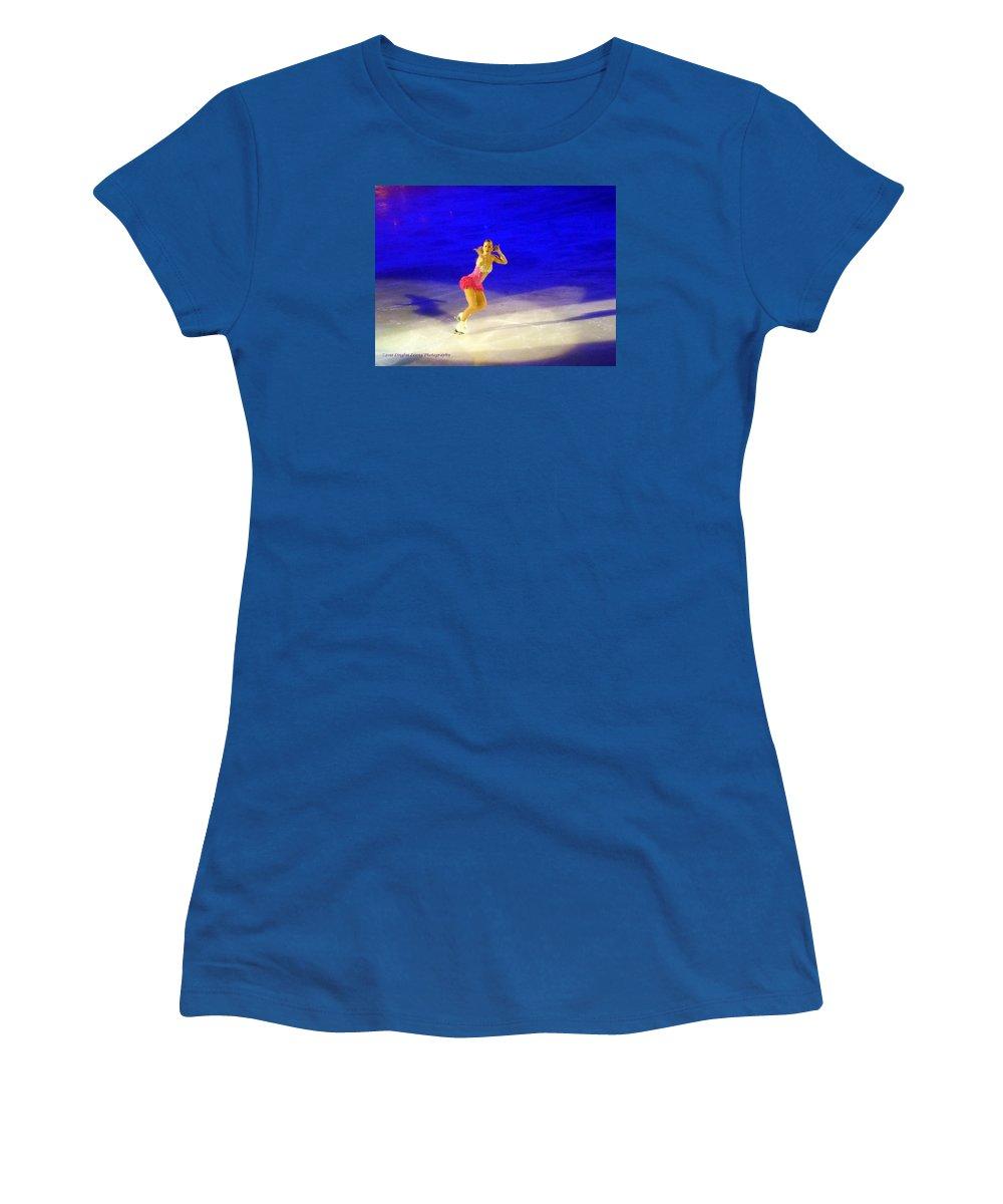 Action Photography Women's T-Shirt featuring the photograph Burlesque by Lingfai Leung