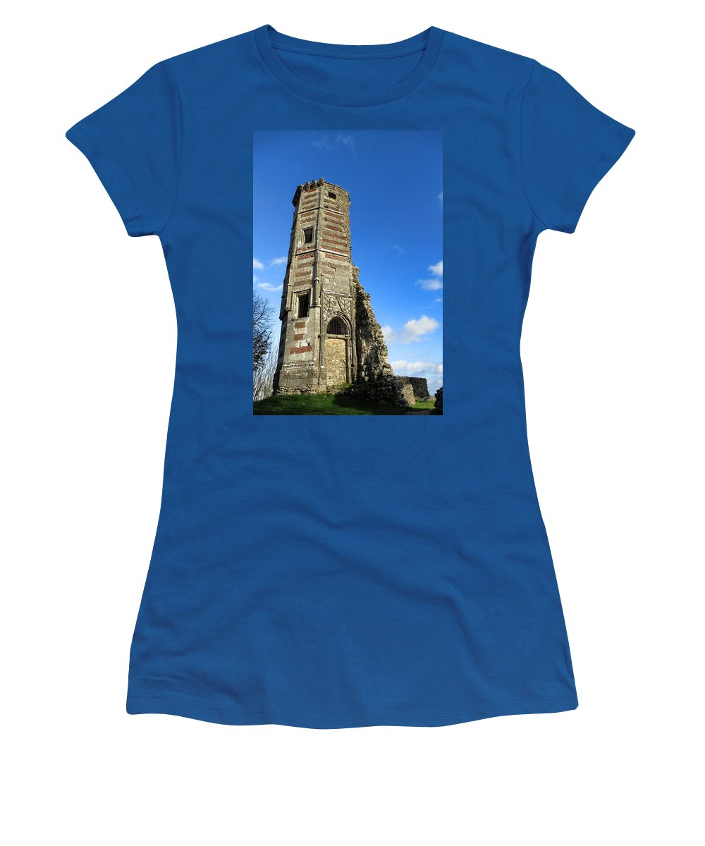 Women's T-Shirt featuring the photograph Castle by Olivier Le Queinec