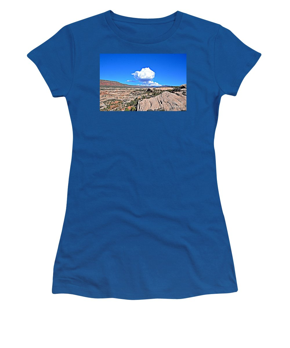 Clouds Women's T-Shirt (Athletic Fit) featuring the photograph Cloud In Colorado by Randy J Heath