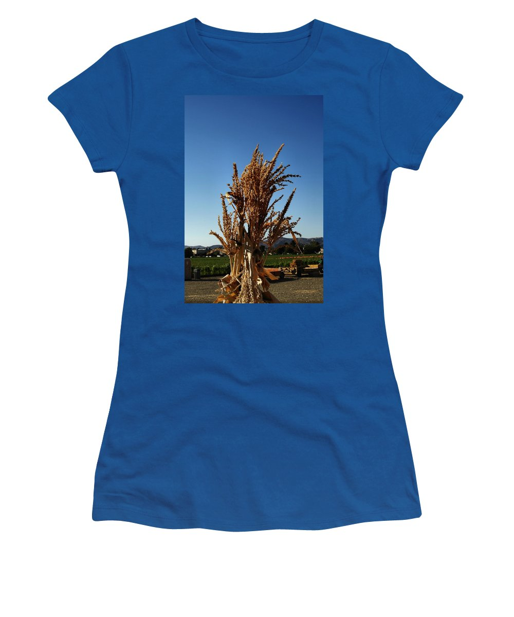 Fall Sdeason Women's T-Shirt featuring the photograph Corn Top by Michael Gordon