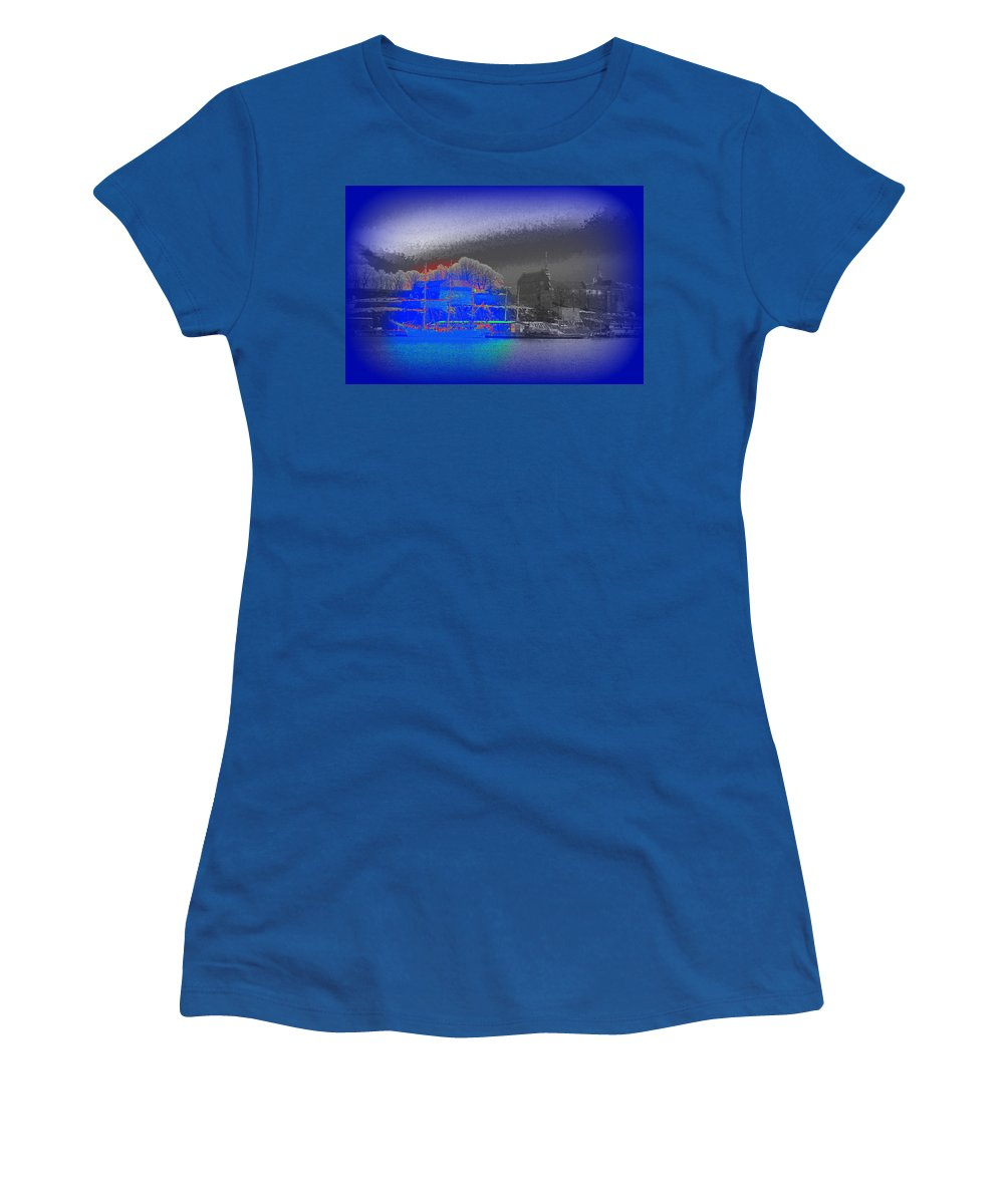 Akershus Women's T-Shirt (Athletic Fit) featuring the photograph Dont Sail Away From Me, Take Me With You by Hilde Widerberg
