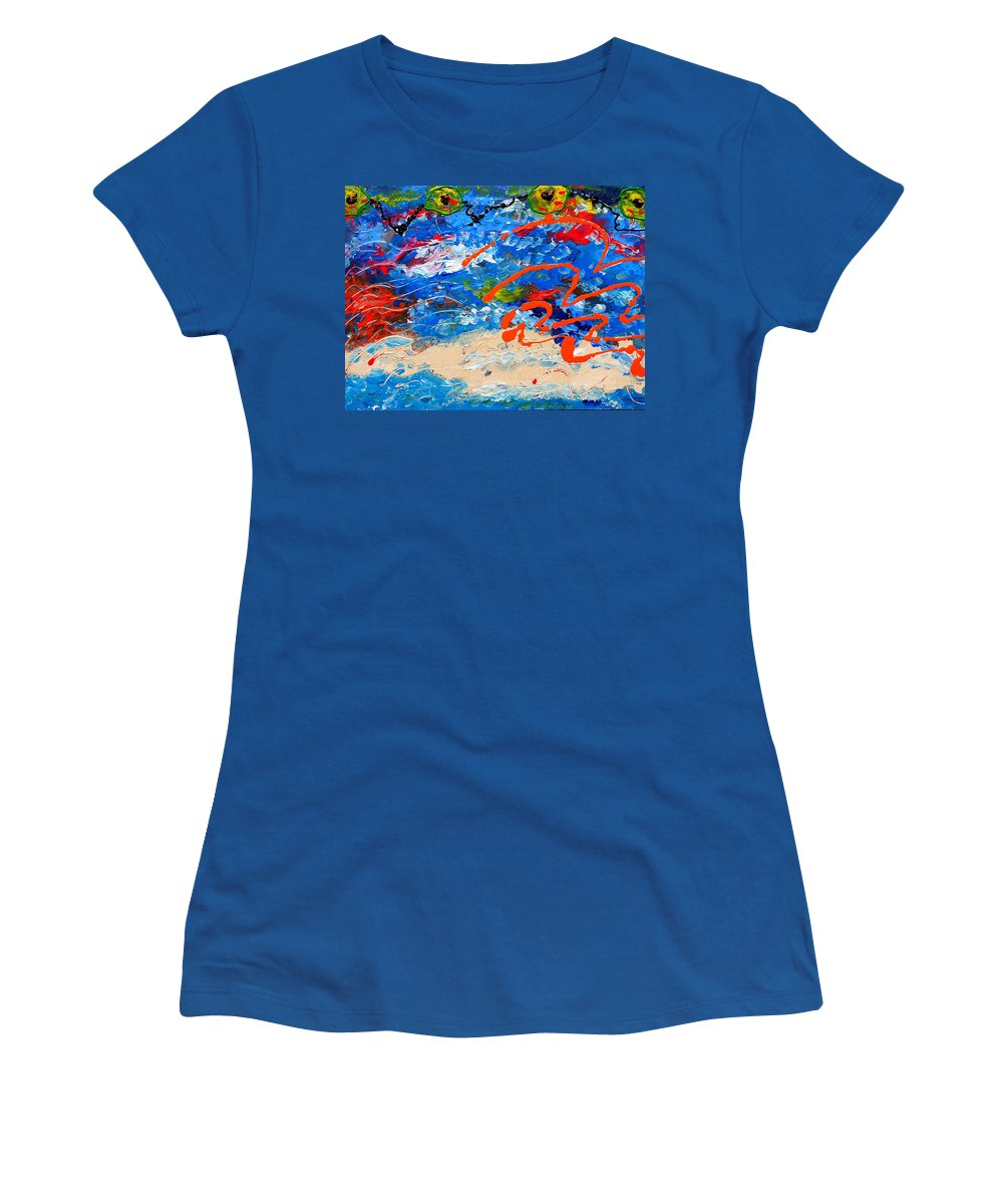 Cuban Art Women's T-Shirt featuring the painting Easter In Cuba by Robert Margetts