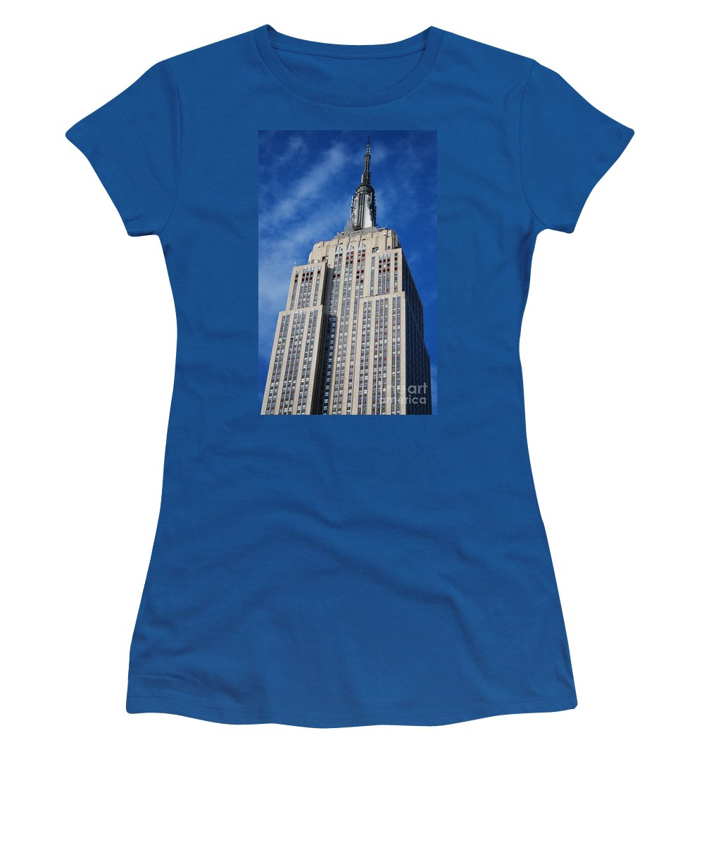 Usa Women's T-Shirt featuring the photograph Empire State Building - Nyc by Carlos Alkmin