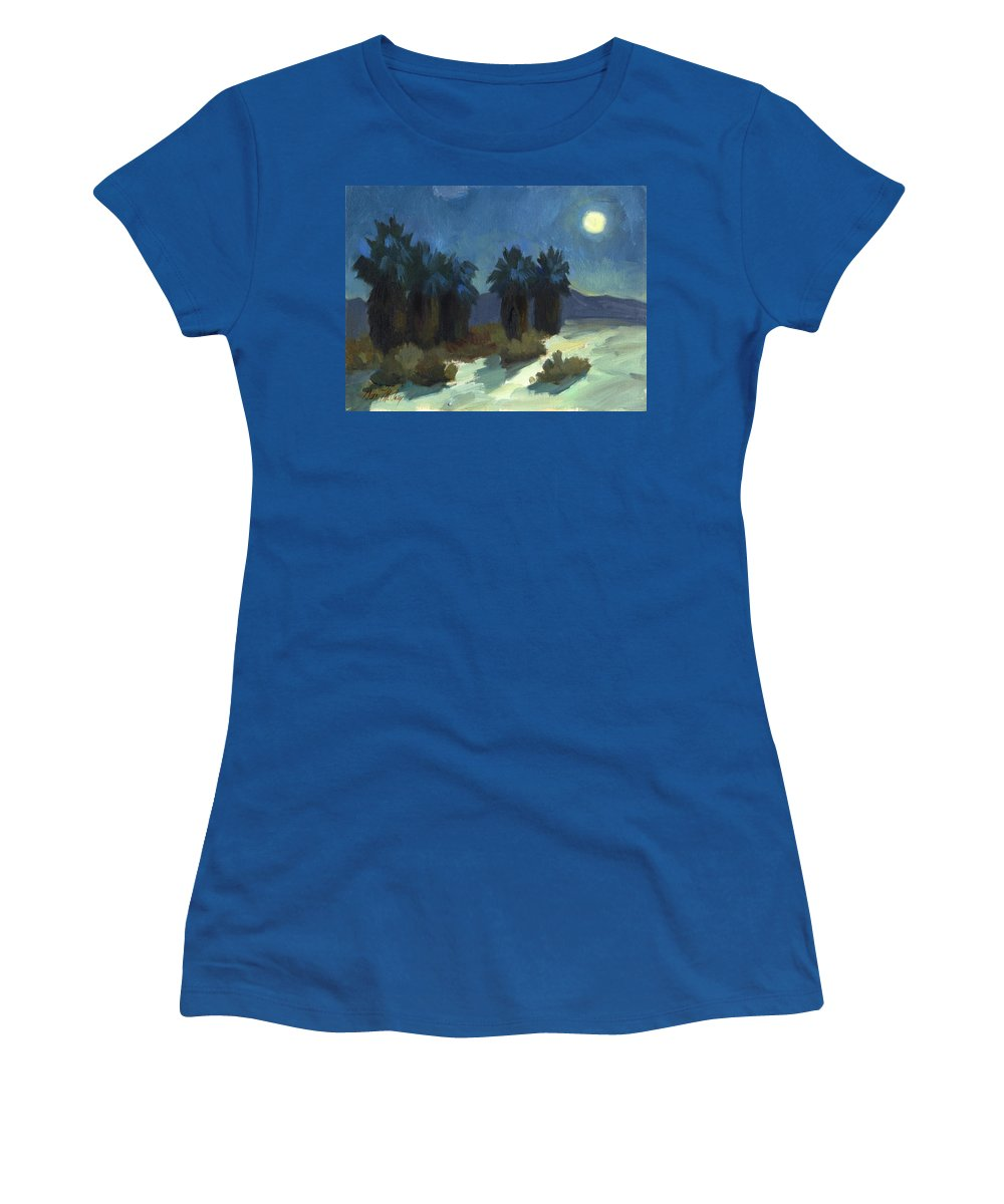 Evening Solitude Women's T-Shirt featuring the painting Evening Solitude by Diane McClary