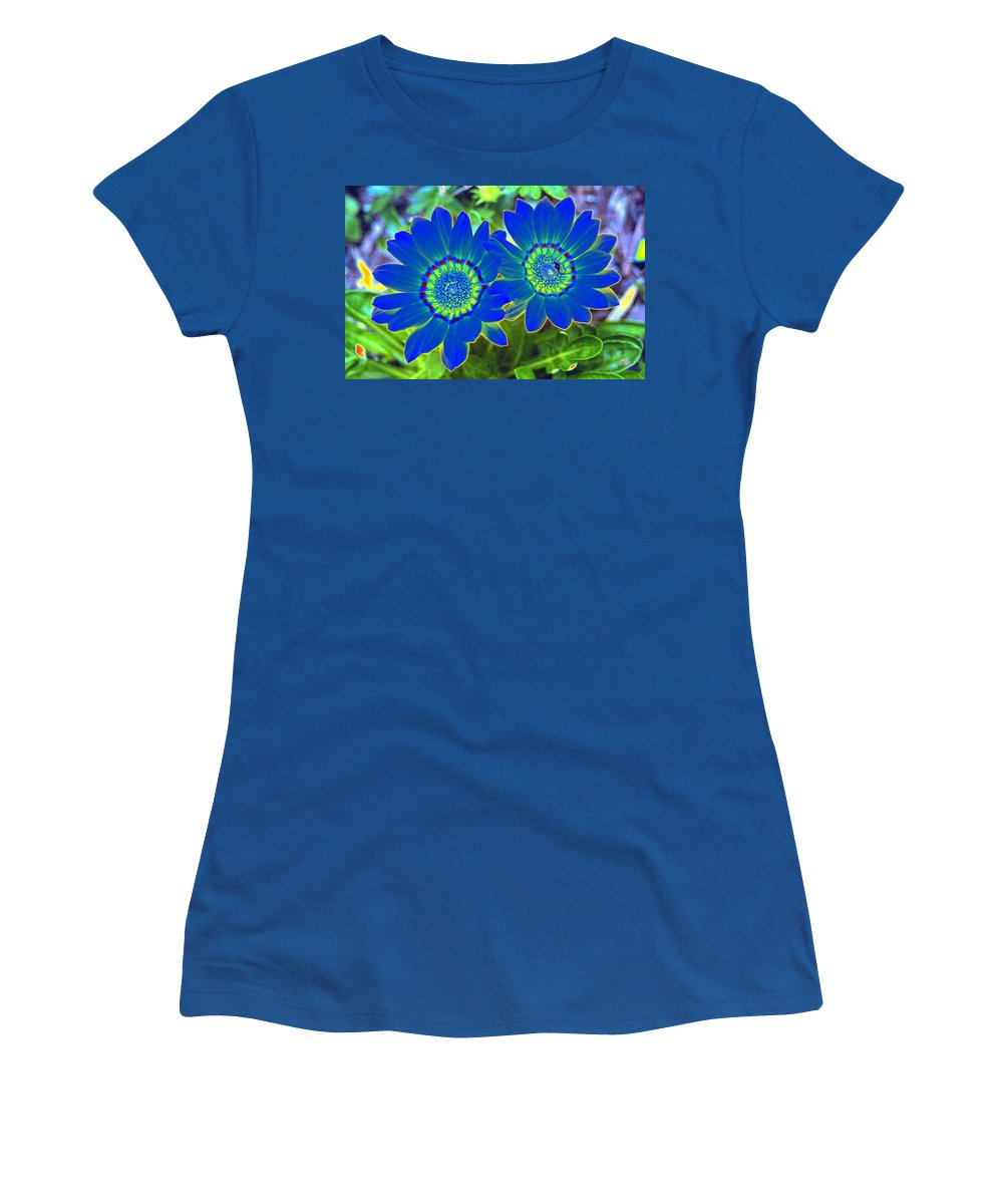 Flower Women's T-Shirt featuring the photograph Flower Power 1451 by Pamela Critchlow