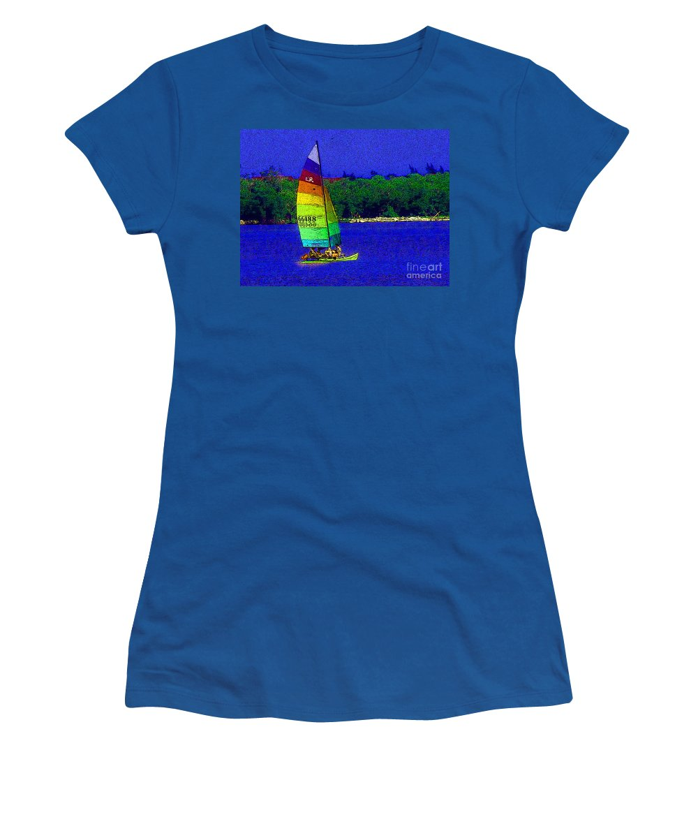 Keri West Women's T-Shirt featuring the photograph Gone For A Sail by Keri West