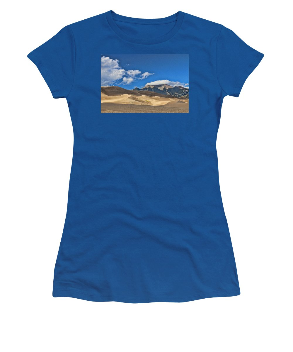 The Great Sand Dunes National Park Women's T-Shirt featuring the photograph The Great Sand Dunes National Park 2 by Allen Beatty
