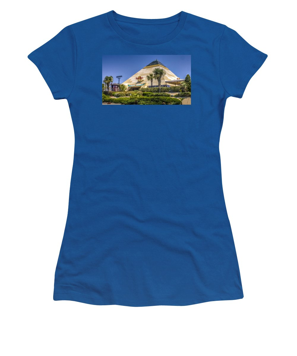 After Women's T-Shirt featuring the photograph Hard Rock Cafe by Rob Sellers