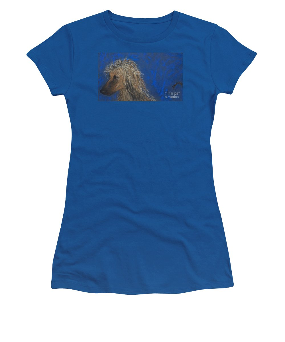 Afghan Women's T-Shirt featuring the drawing Heads Or Tails by Cori Solomon