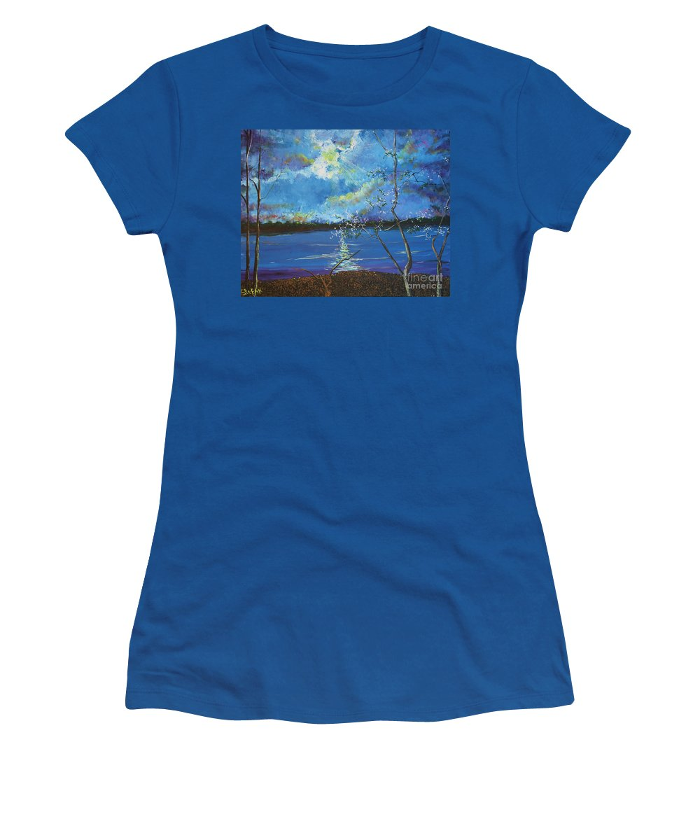 Landscape Women's T-Shirt featuring the painting Hope Prevailing by Stefan Duncan