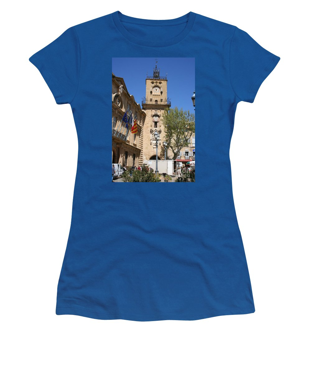 City Hall Women's T-Shirt (Athletic Fit) featuring the photograph Hotel De Ville - Aix En Provence by Christiane Schulze Art And Photography