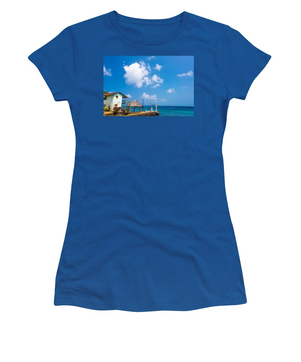 Capurgana Women's T-Shirt featuring the photograph House Overlooking The Sea by Jess Kraft