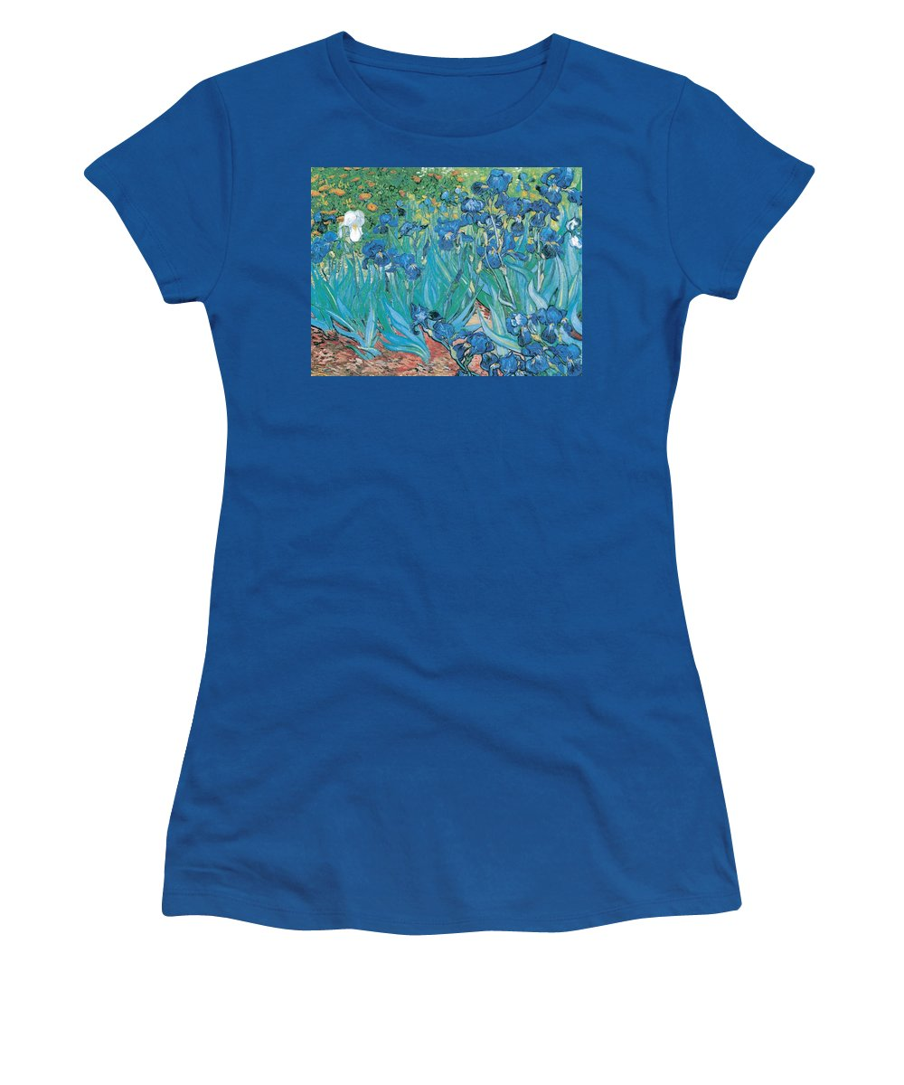 Irises Women's T-Shirt featuring the digital art Irises by Georgia Fowler