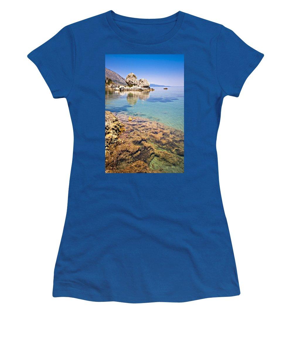 Kefalonia Women's T-Shirt featuring the photograph Kefalonia Beauty by Meirion Matthias