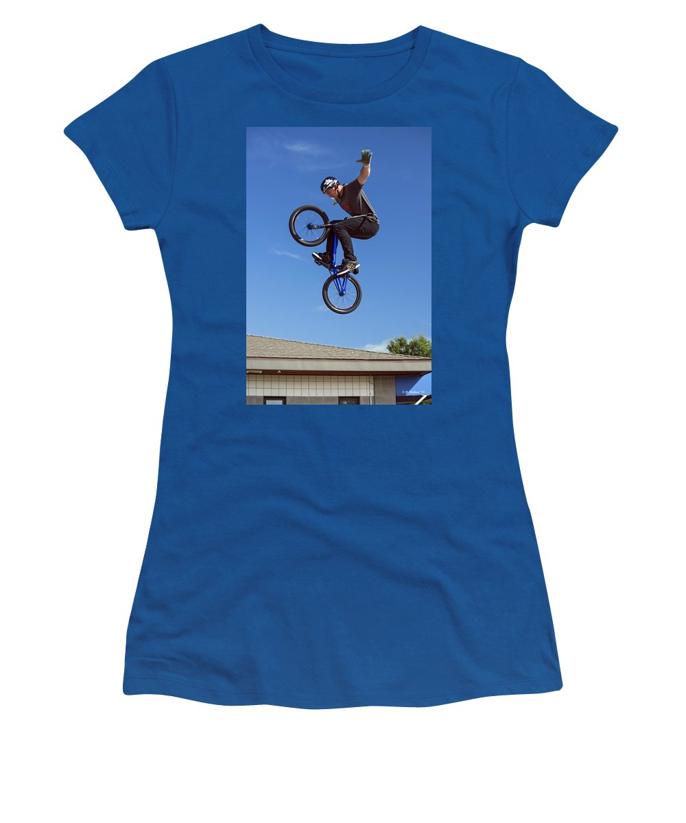 2d Women's T-Shirt featuring the photograph King Bmx 2 by Brian Wallace